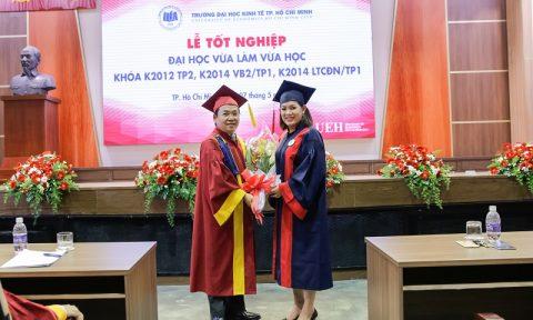 Lễ tốt nghiệp hệ vừa làm vừa học chuyên ngành Quản trị (Khóa K2012 TP2)